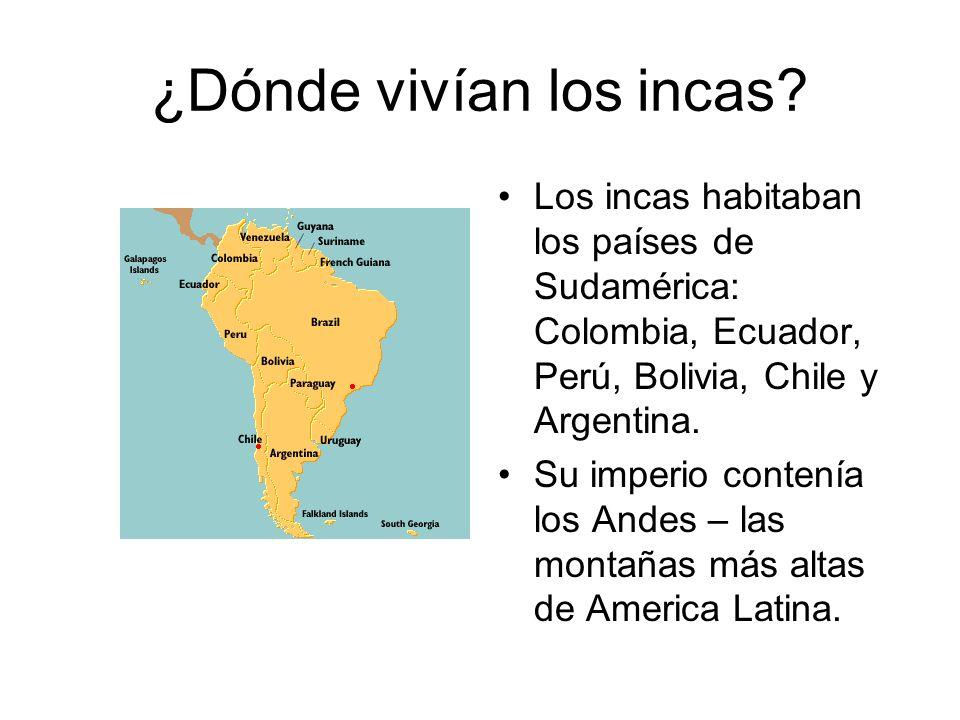 ¿Dónde vivían los incas
