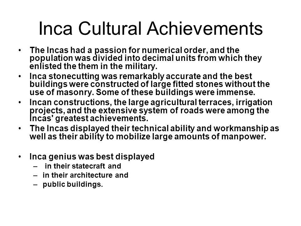 Inca Cultural Achievements
