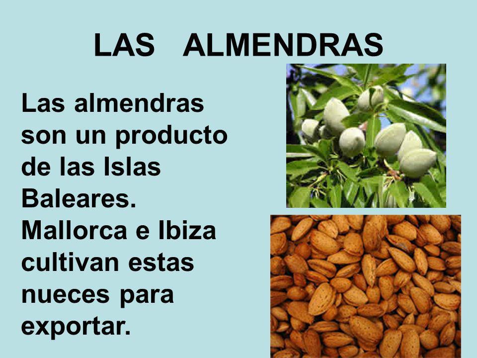 LAS ALMENDRAS Las almendras son un producto de las Islas Baleares.