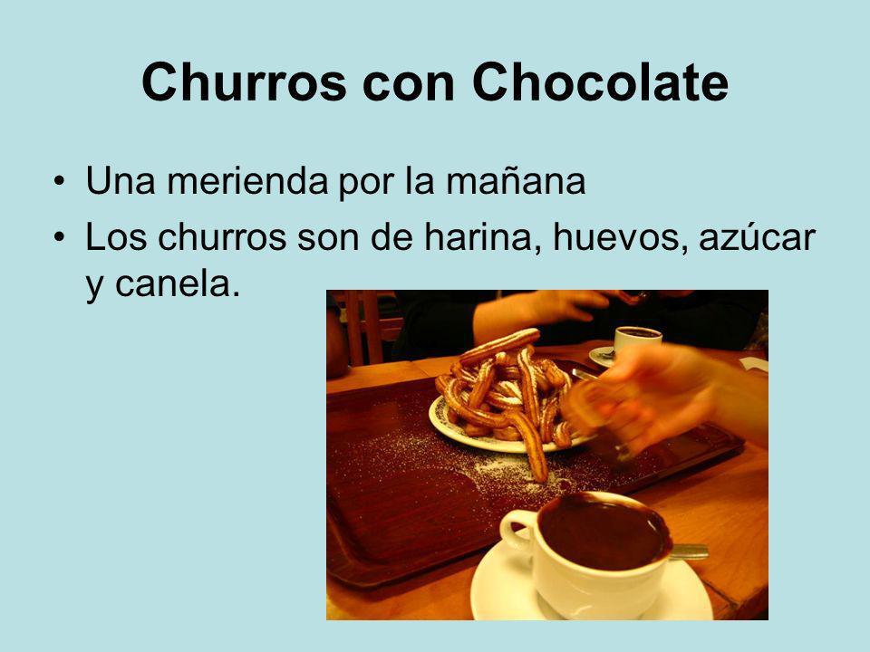 Churros con Chocolate Una merienda por la mañana