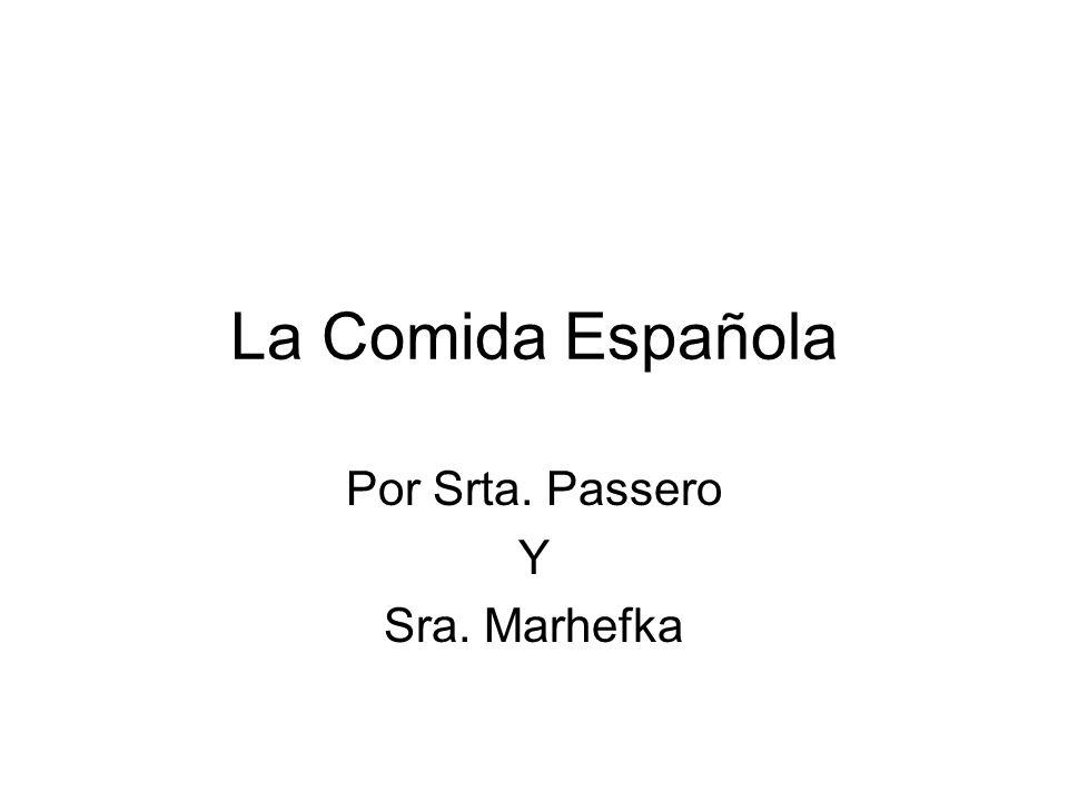 Por Srta. Passero Y Sra. Marhefka