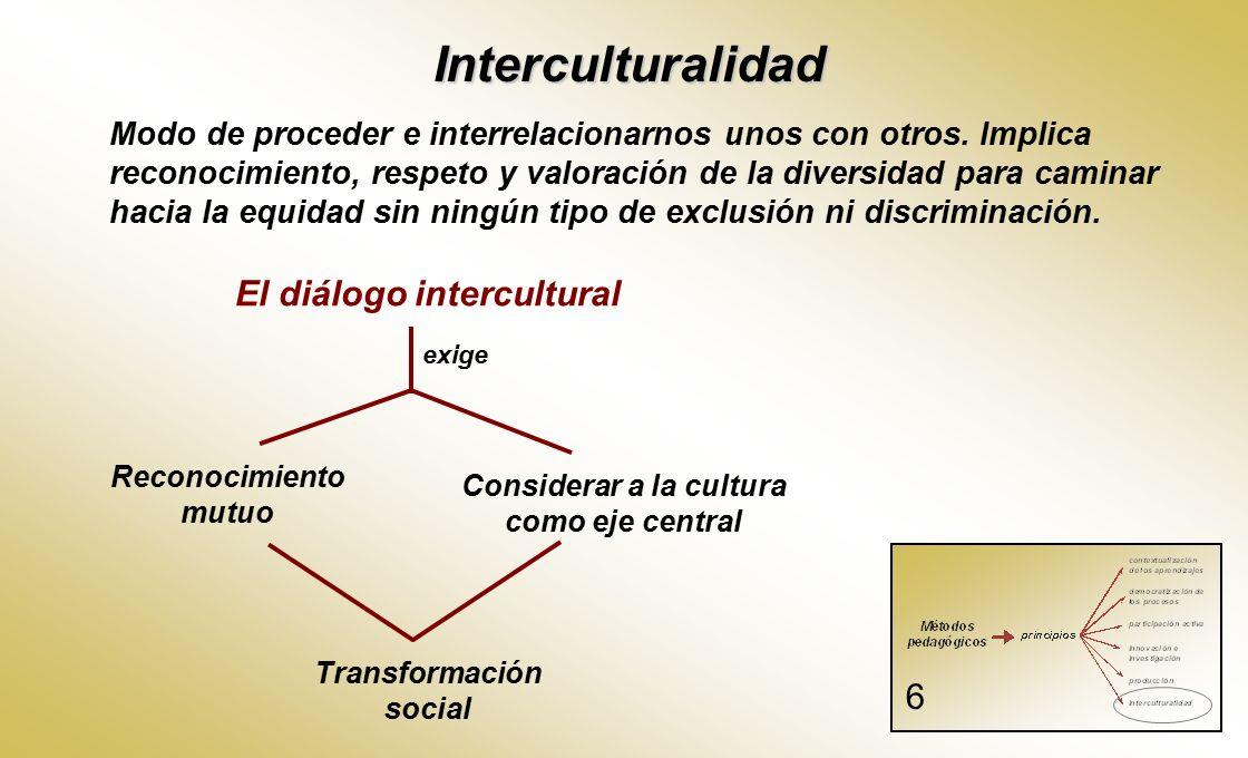 Interculturalidad El diálogo intercultural 6