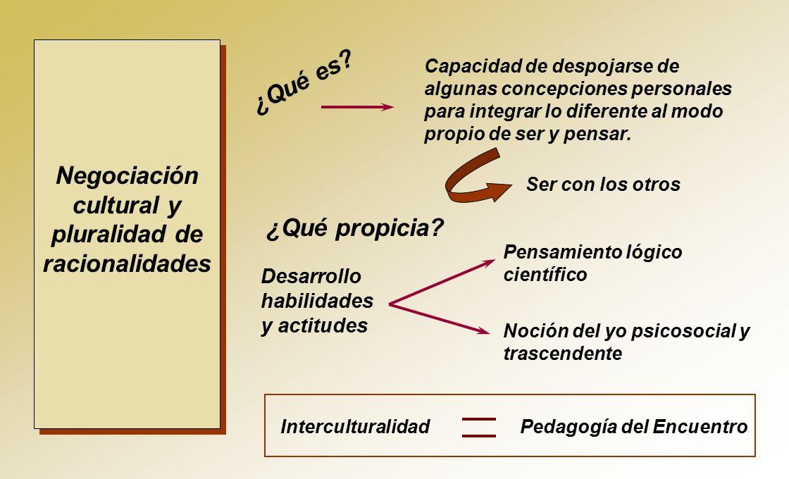 Negociación cultural y pluralidad de racionalidades ¿Qué es