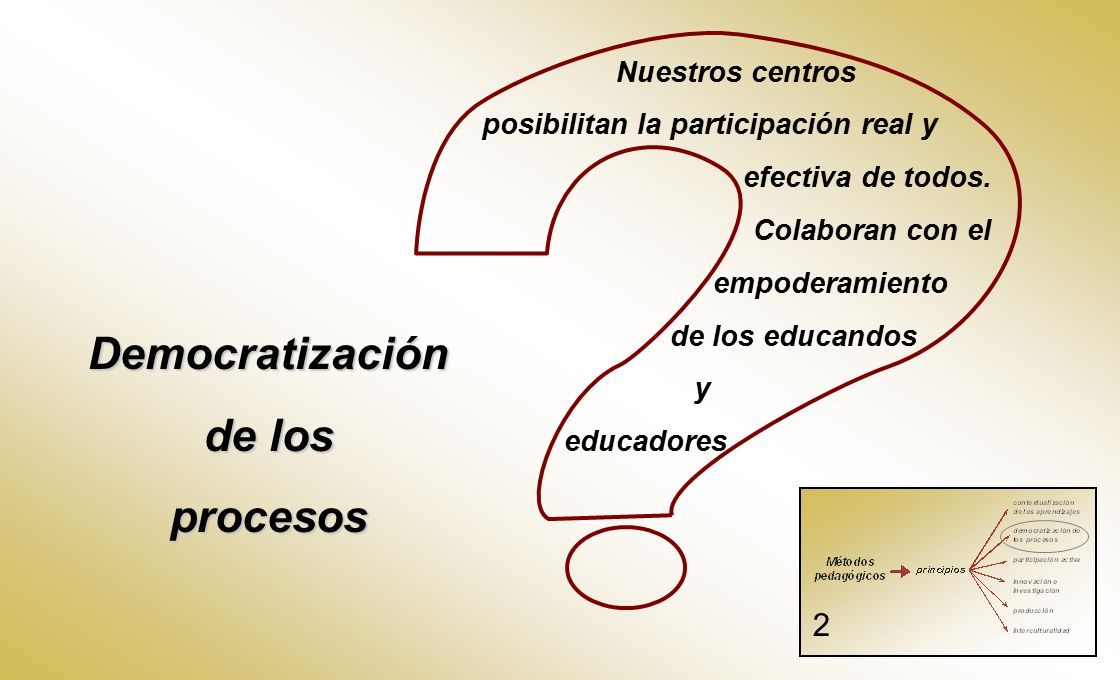 Democratización de los procesos