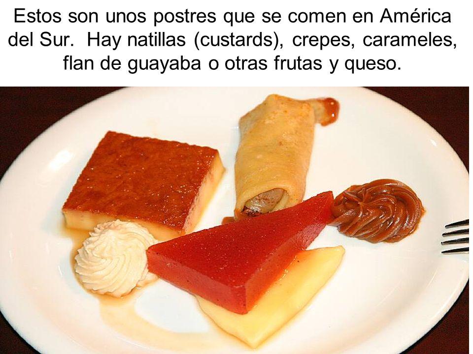Estos son unos postres que se comen en América del Sur