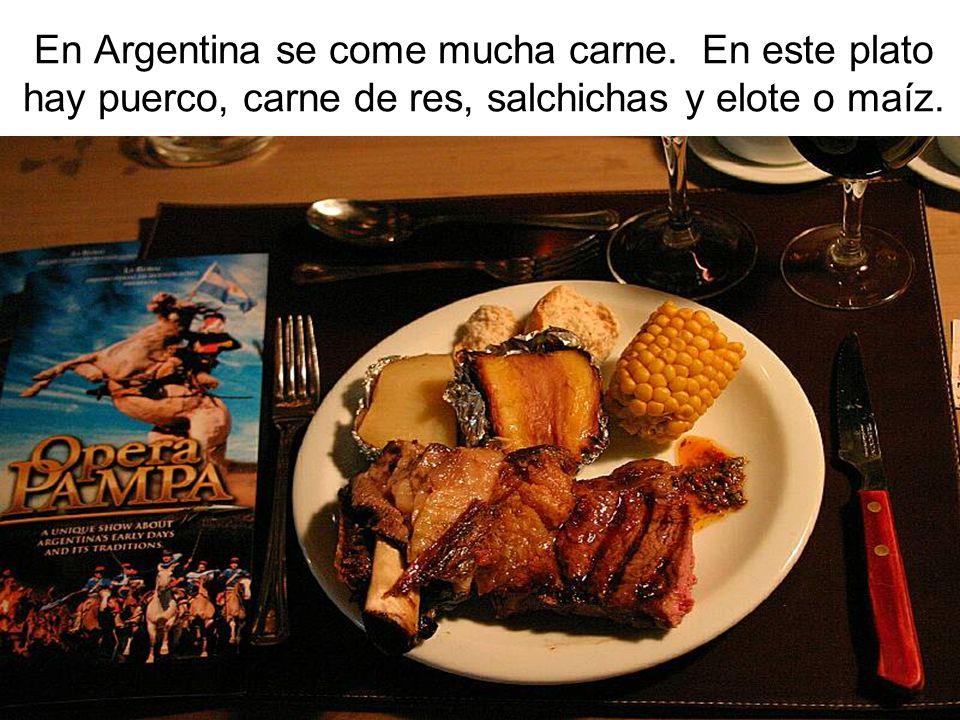 En Argentina se come mucha carne