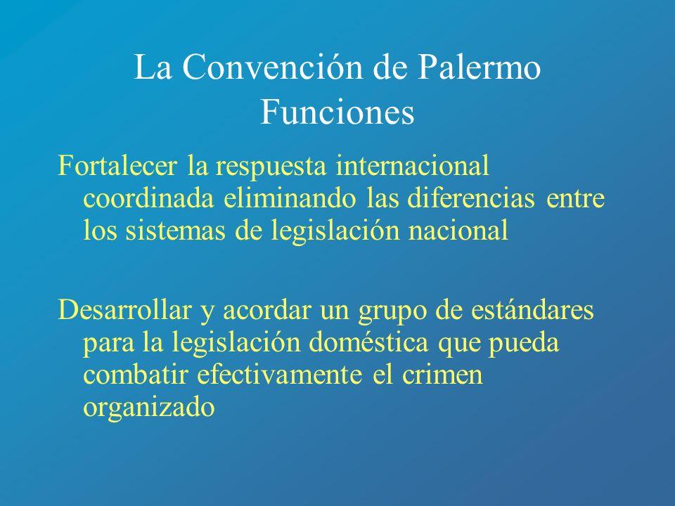 La Convención de Palermo Funciones