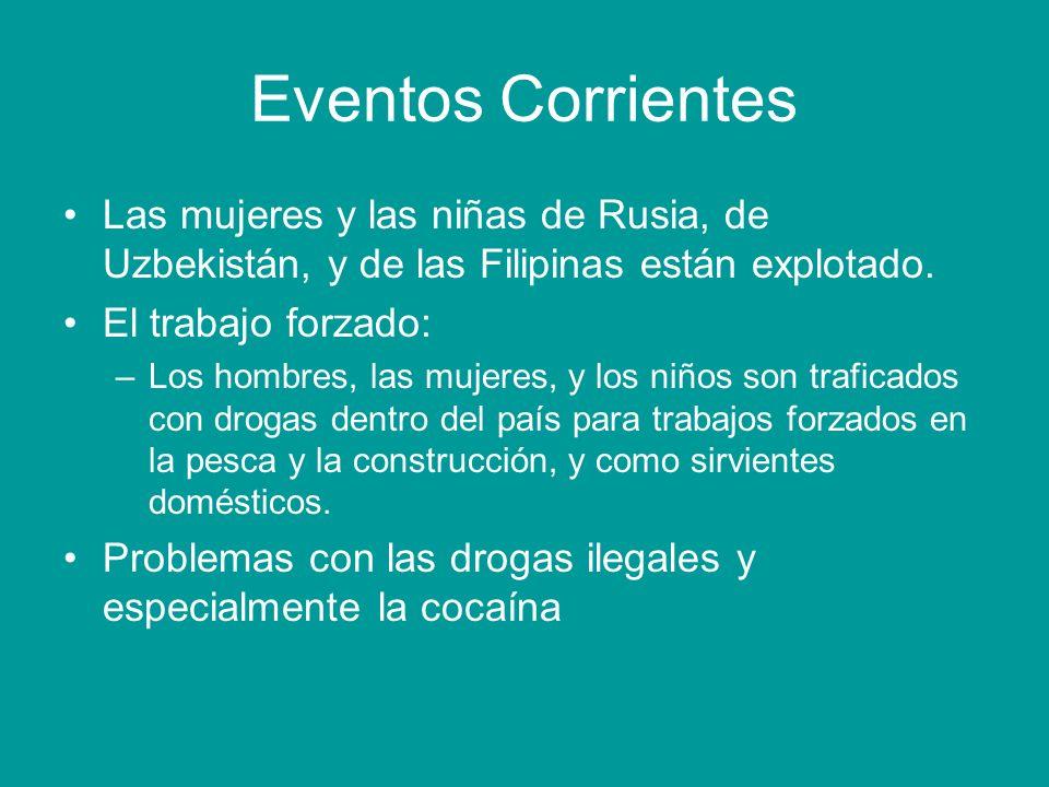 Eventos Corrientes Las mujeres y las niñas de Rusia, de Uzbekistán, y de las Filipinas están explotado.