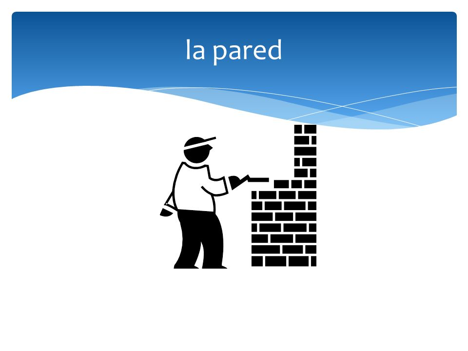 la pared