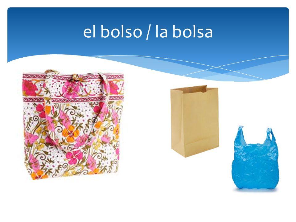 el bolso / la bolsa