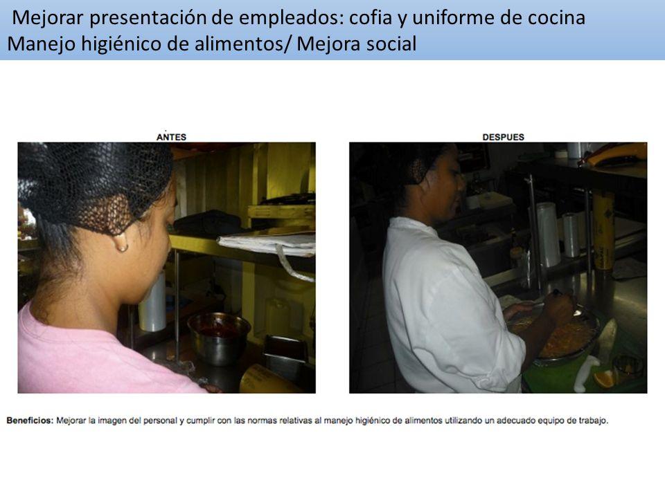 Mejorar presentación de empleados: cofia y uniforme de cocina