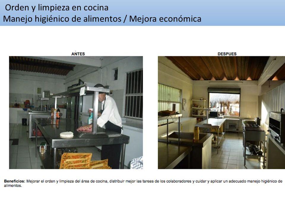 Orden y limpieza en cocina Manejo higiénico de alimentos / Mejora económica