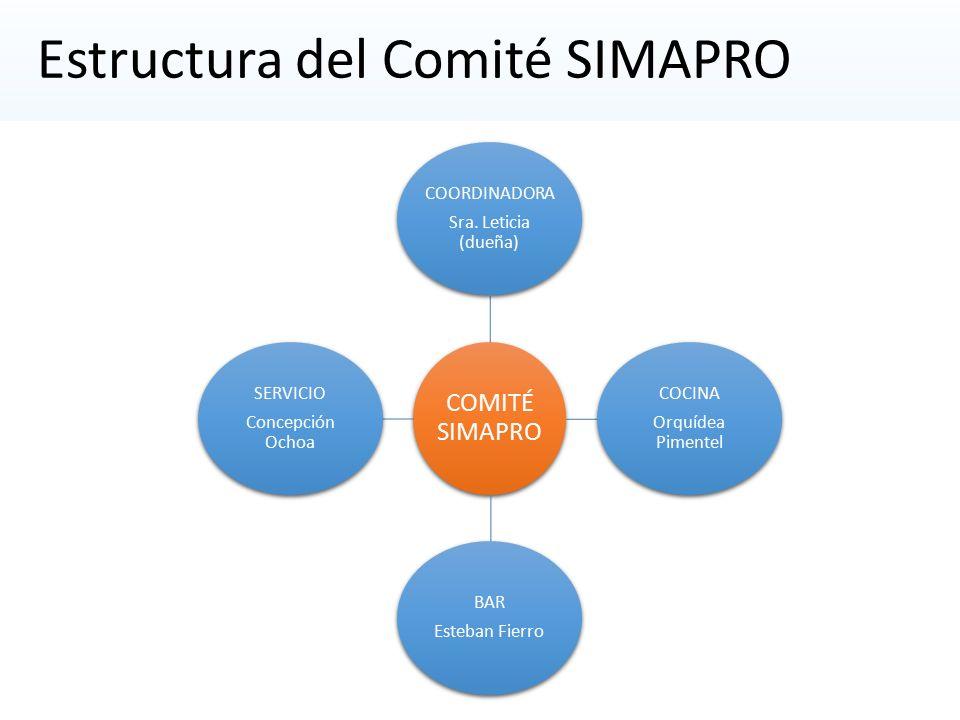 Estructura del Comité SIMAPRO
