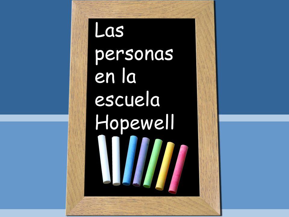 Las personas en la escuela Hopewell
