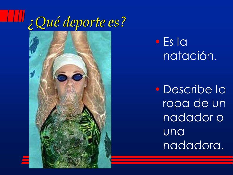 ¿Qué deporte es Es la natación.