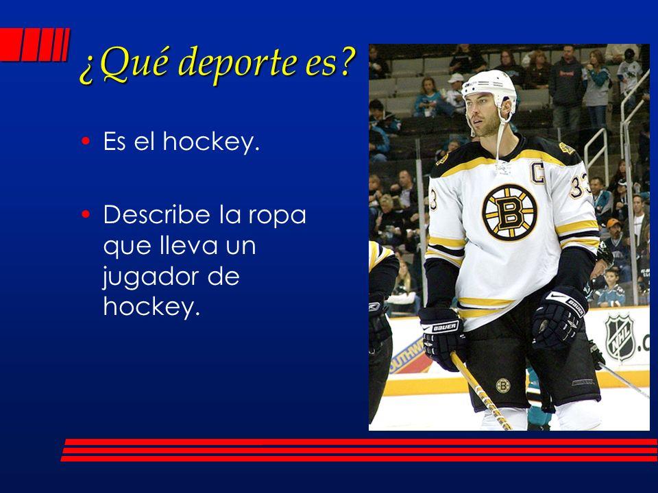 ¿Qué deporte es Es el hockey.