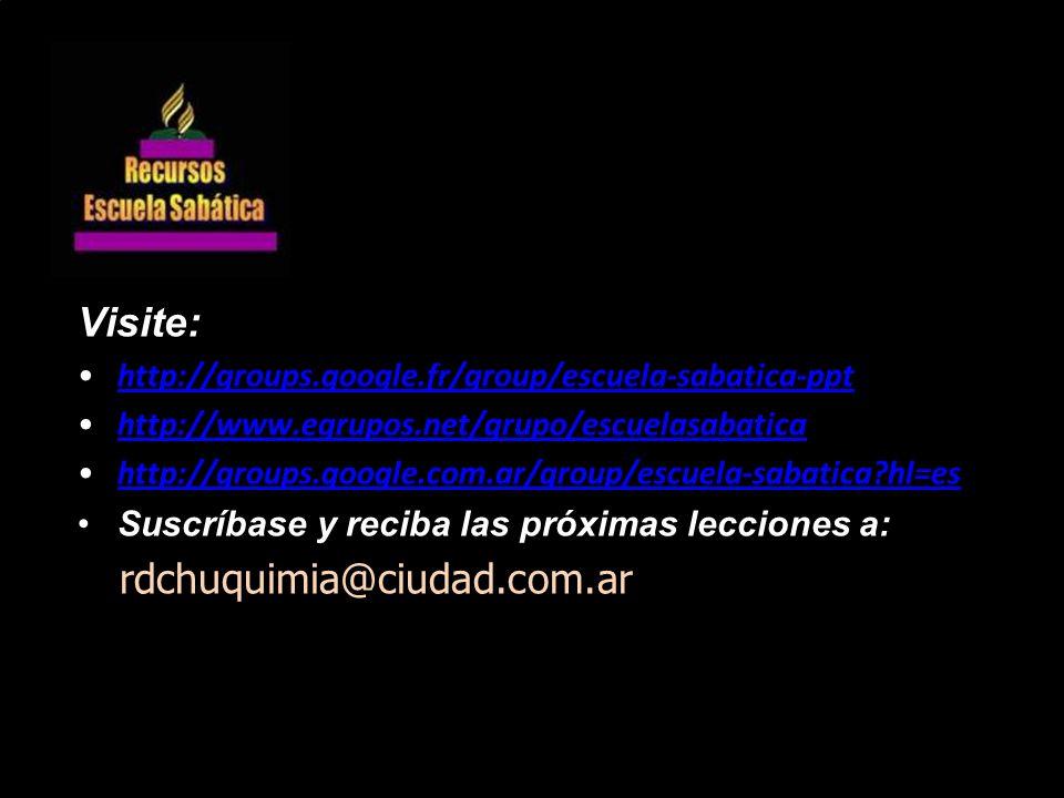 Visite: rdchuquimia@ciudad.com.ar