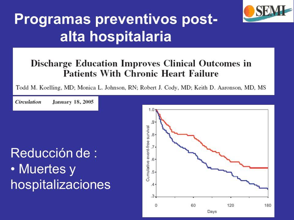 Programas preventivos post-alta hospitalaria