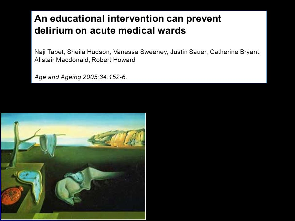 An educational intervention can prevent