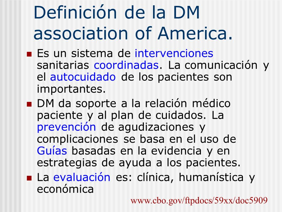 Definición de la DM association of America.