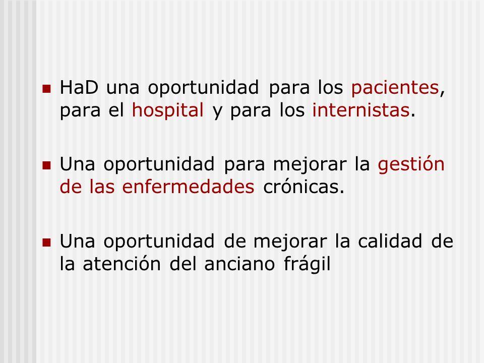 HaD una oportunidad para los pacientes, para el hospital y para los internistas.