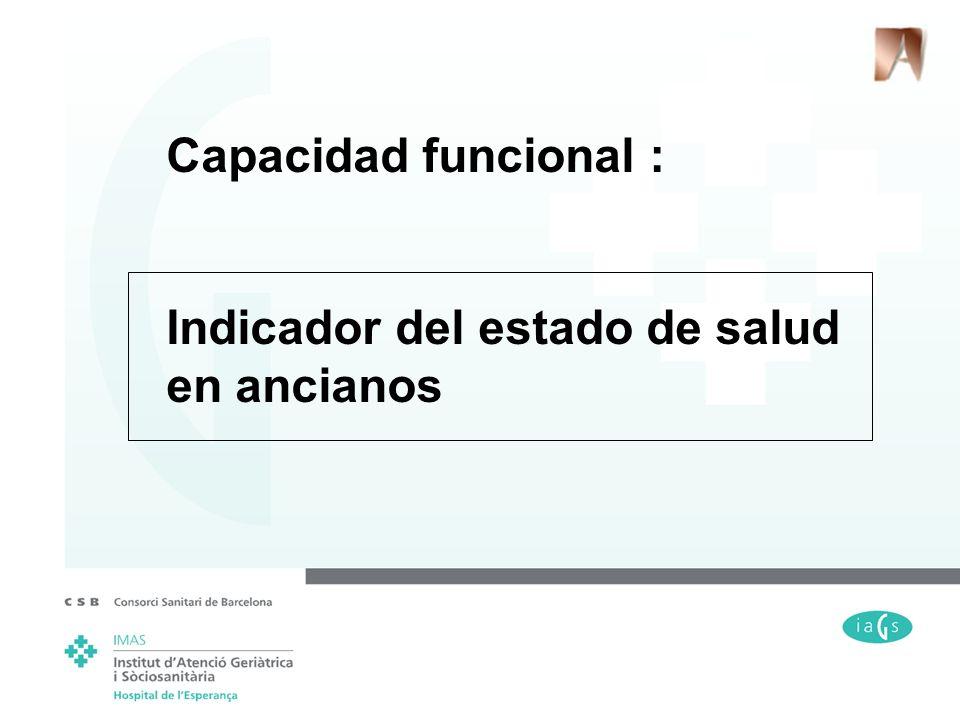 Capacidad funcional : Indicador del estado de salud en ancianos
