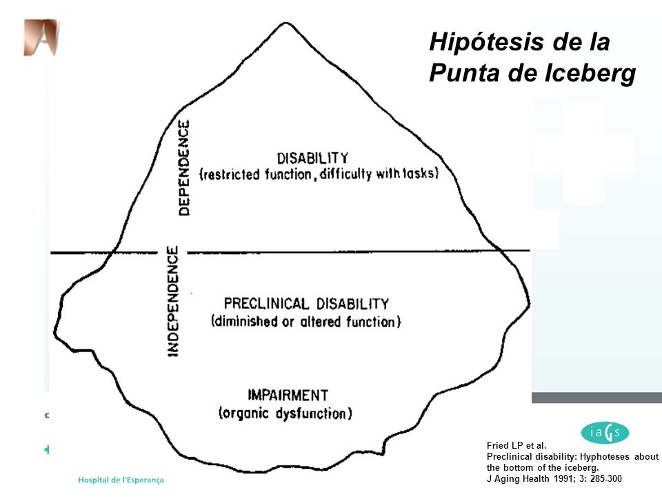 Hipótesis de la Punta de Iceberg Fried LP et al.