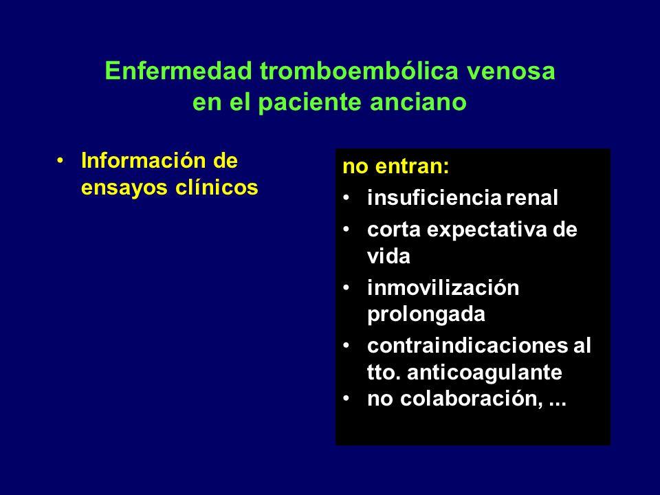 Enfermedad tromboembólica venosa en el paciente anciano
