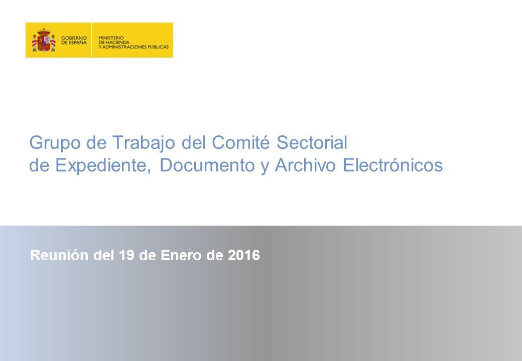 Grupo de Trabajo del Comité Sectorial de Expediente, Documento y Archivo Electrónicos
