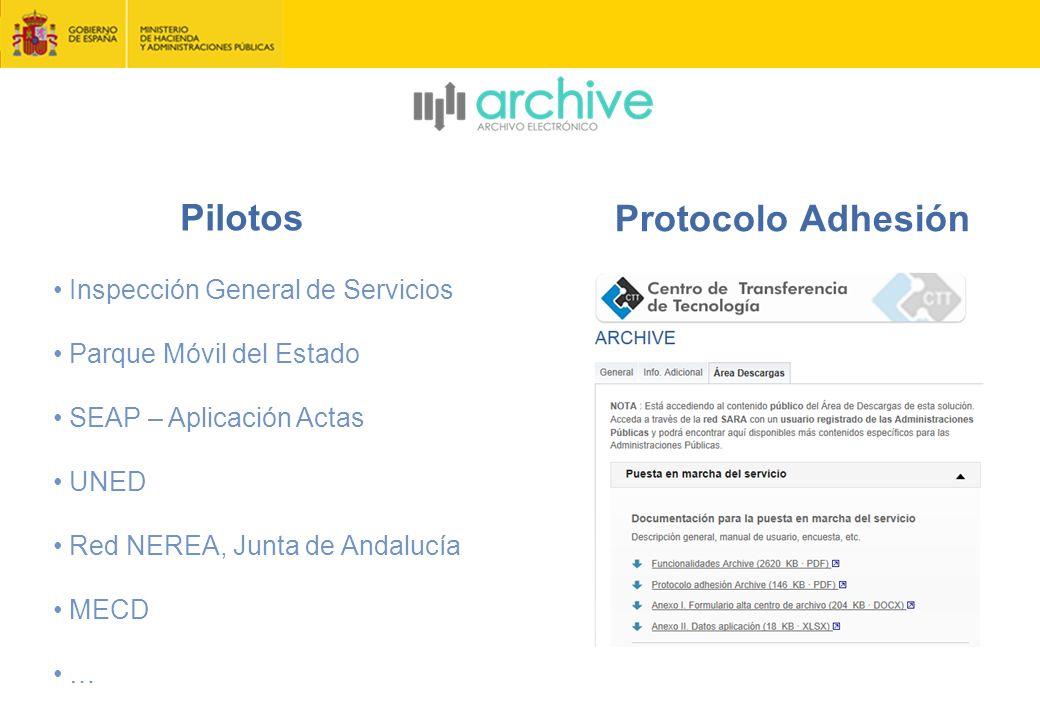 Pilotos Protocolo Adhesión