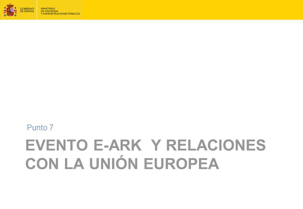 Evento e-ARK y relaciones con la Unión Europea