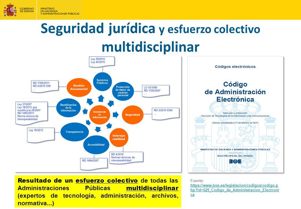 Seguridad jurídica y esfuerzo colectivo multidisciplinar