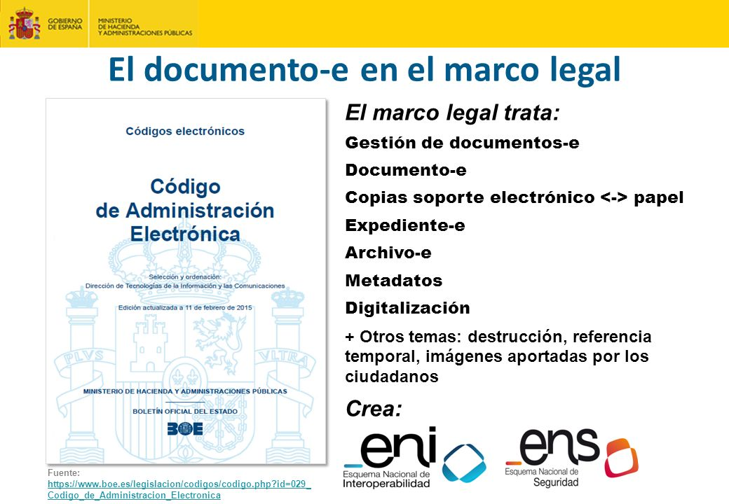 El documento-e en el marco legal