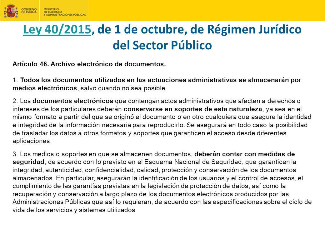 Ley 40/2015, de 1 de octubre, de Régimen Jurídico del Sector Público