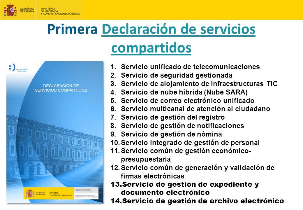 Primera Declaración de servicios compartidos