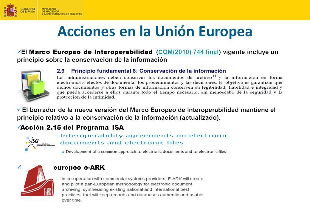 Acciones en la Unión Europea