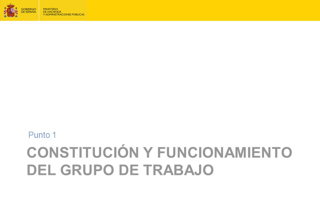 Constitución y funcionamiento del grupo de trabajo
