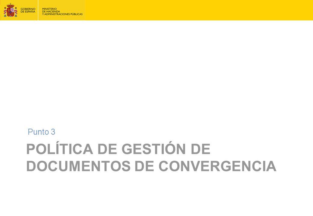 Política de gestión de documentos de convergencia