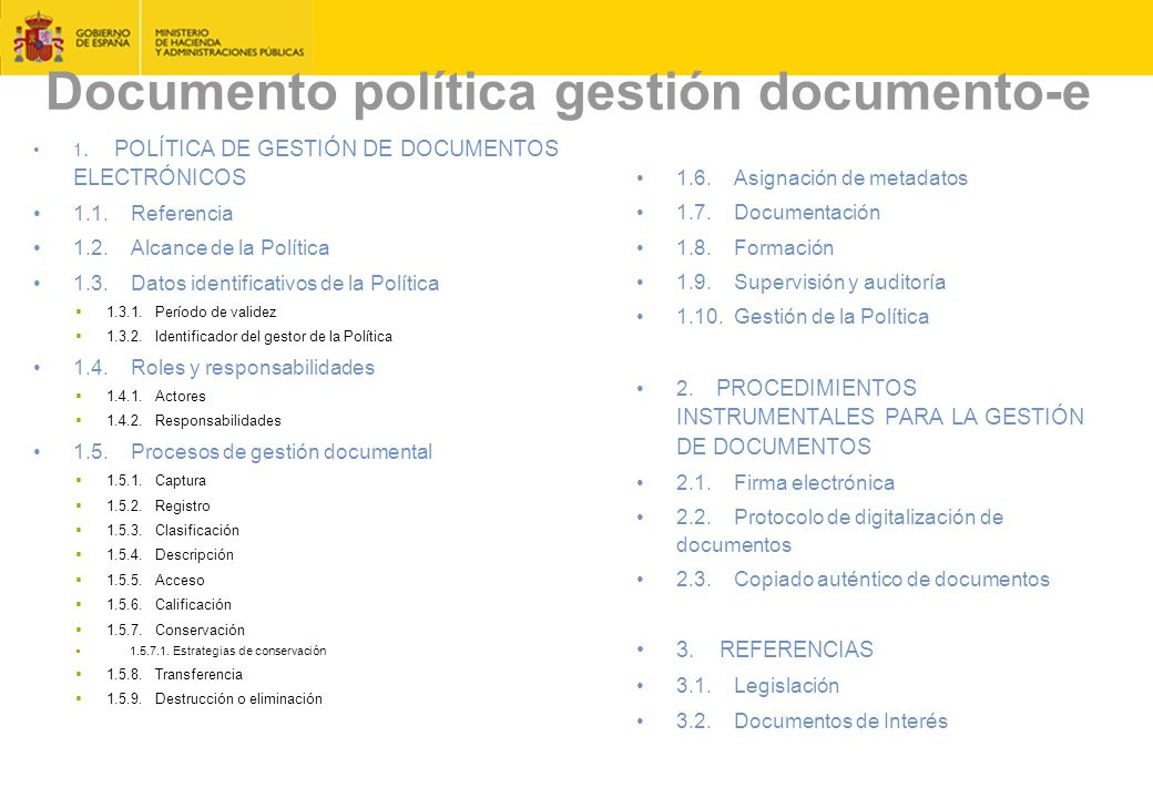 Documento política gestión documento-e