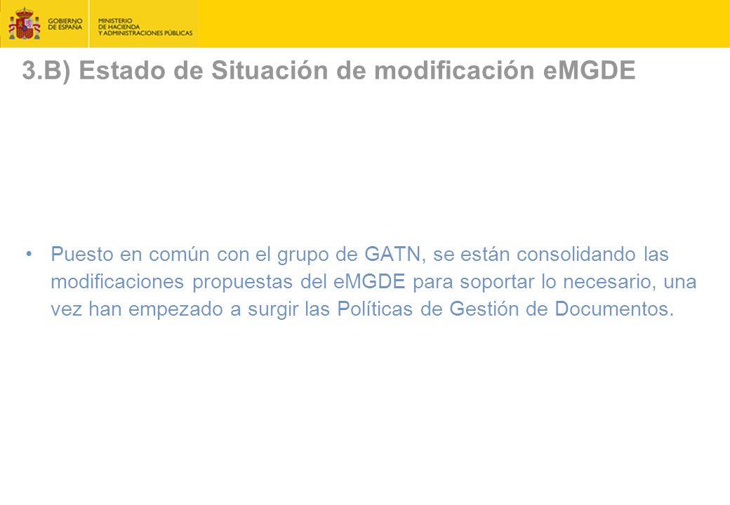 3.B) Estado de Situación de modificación eMGDE