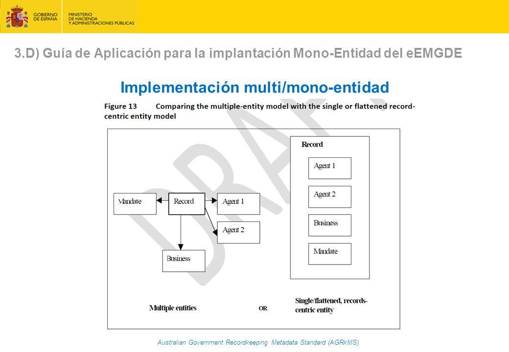 Implementación multi/mono-entidad