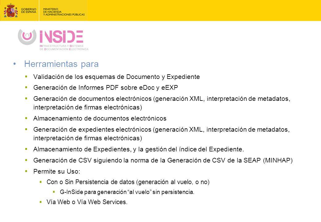 Herramientas para Validación de los esquemas de Documento y Expediente