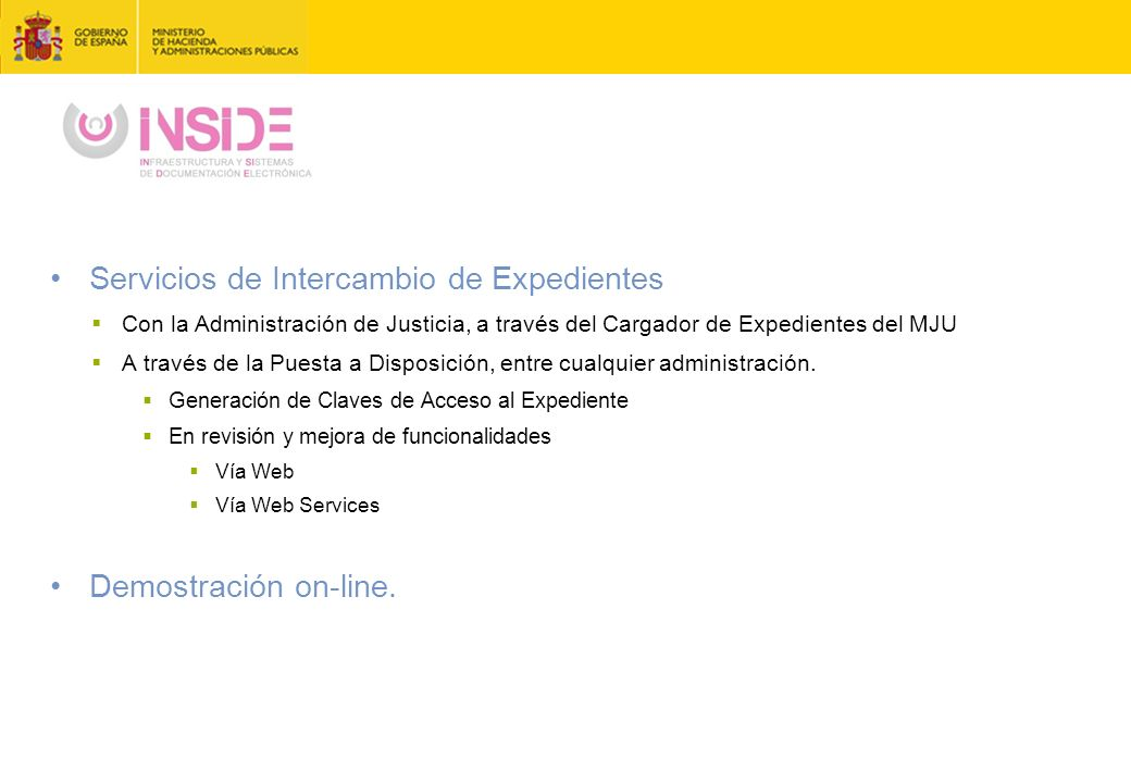 Servicios de Intercambio de Expedientes