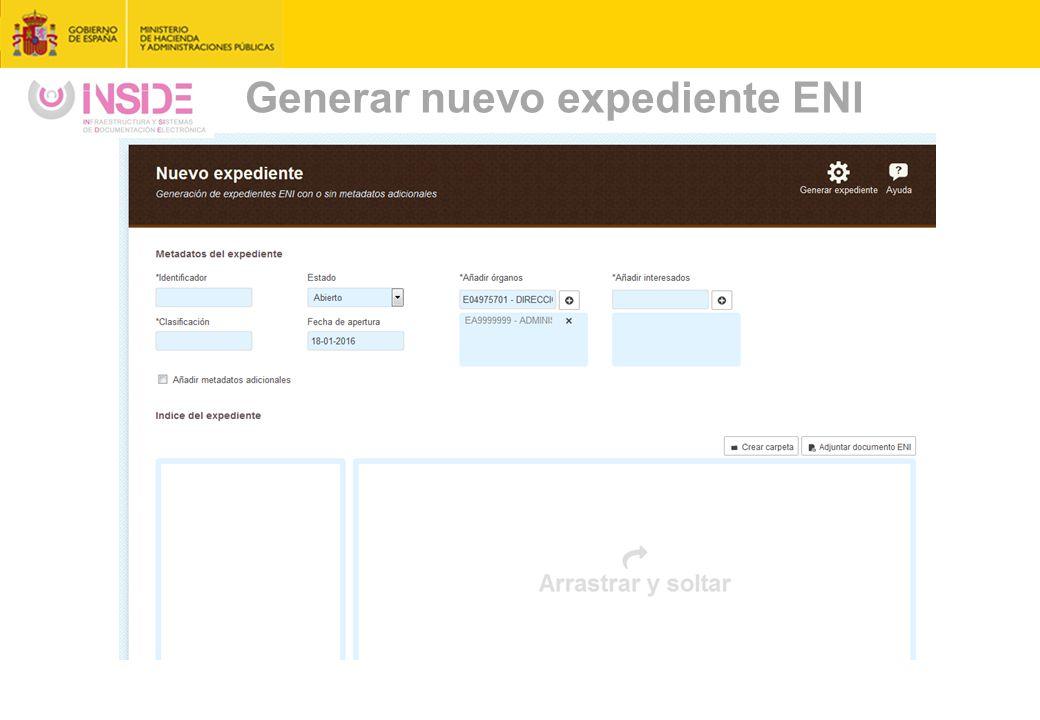 Generar nuevo expediente ENI