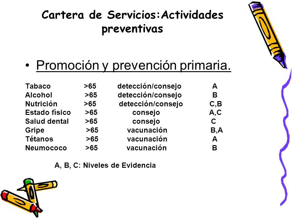 Cartera de Servicios:Actividades preventivas