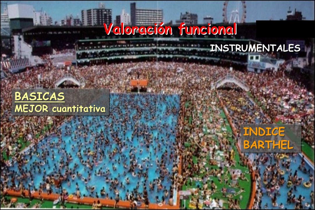 Valoración funcional BASICAS INDICE BARTHEL INSTRUMENTALES