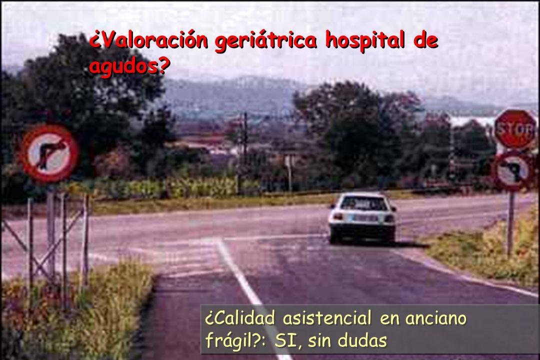 ¿Valoración geriátrica hospital de agudos