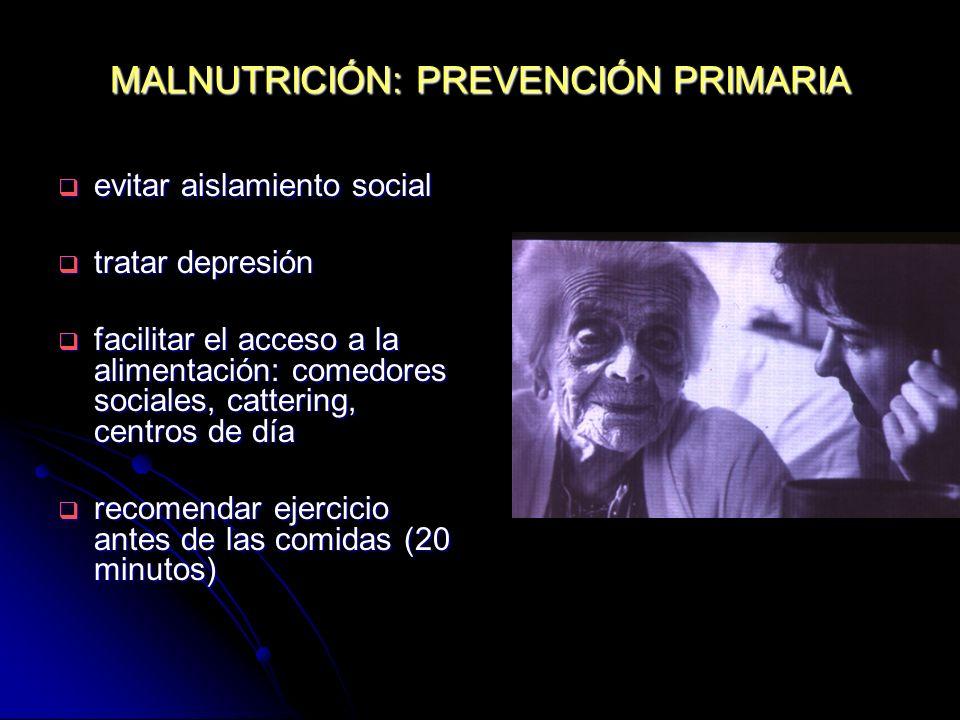 MALNUTRICIÓN: PREVENCIÓN PRIMARIA