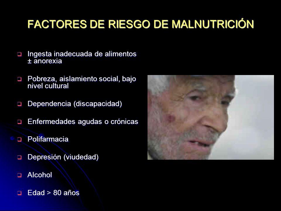 FACTORES DE RIESGO DE MALNUTRICIÓN