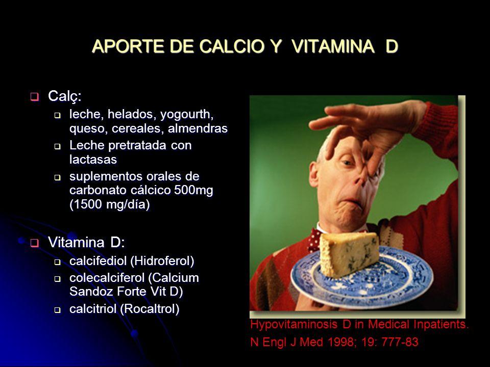 APORTE DE CALCIO Y VITAMINA D